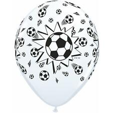 "50 Qualatex Soccer Ball Helium Quality 11"" Latex Balloons"