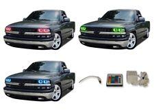 for Chevrolet Silverado 99-02 RGB Multi Color IR LED Halo kit for Headlights