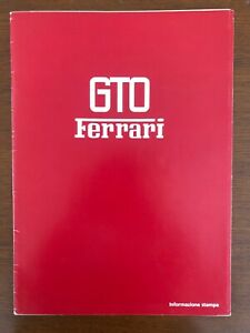 Original FERRARI 288 GTO Press Kit Brochure Booklet Manual Sales Memorabilia NOS