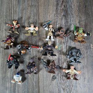 Mixed Lot Star Wars Playskool Imaginext Galactic Heros Action Figures