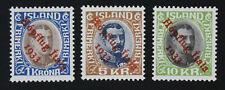 Iceland, Zeppelin, Hopflug Itala 1933, Sc. C12-C14, MH Stamps, Certificate #m137