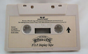 The Talking Mother Goose Hector P.O.P. DISPLAY CASSETTE TAPE Worlds of Wonder