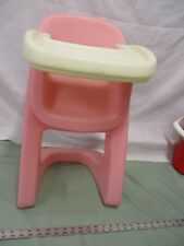 Step 2 Vintage Baby Doll Highchair Pink White Pretend Playing House Toy Feed