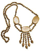 Valentina Hand Crafted Wooden Bead Bohemian Ethnic Necklace Artisan Jewelry