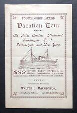 1900 Merchants & Miners Transportation Co Vacation Brocure Steamer SS Gloucester