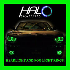 2006-2010 DODGE CHARGER GREEN LED HEADLIGHT + FOG LIGHT HALO KIT by ORACLE