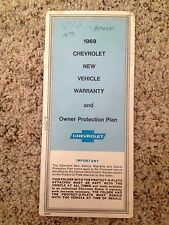 1969 Camaro SS/Chevelle SS/Nova Owner Protection Plan 1st Edition GM# 3959560