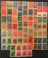 """Germany Collection Lot """" 52 """" Blocks of four   1920s Inflation Era  MNH"""