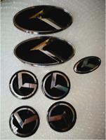 B TYP-4x60mm,1x60x30,2x130x65mm-7x schwarz logo Auto Radmitte Cap 3D- BLACK