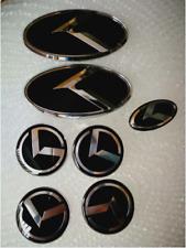 B TYP-4x60mm,1x60x30,2x130x65mm-7x schwarz logo Auto Radmitte Cap Emblem 3D