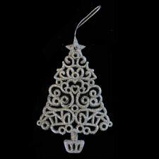 Decorazioni in argento in plastica per albero di Natale