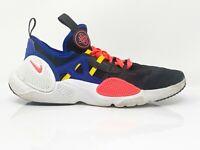 Nike Boys Huarache EDGE TXT BG CD9272-002 Black Blue Running Shoes Size 7Y