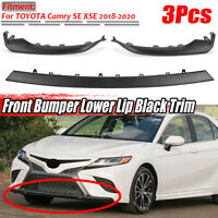 For TOYOTA Camry SE XSE 2018-2020 Front Bumper Grille Lower Trim Molding Black