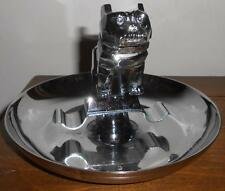 Vintage Mack Truck Chrome Bulldog Hood Ornament Cigar Ashtray
