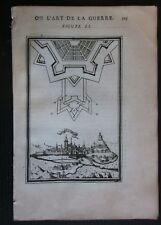 1684 RETHEL vue gravure Alain Manesson Mallet fortifications Ardennes
