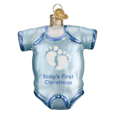 Old World Christmas Ornament...Blue Baby One Piece