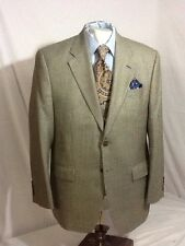 Mens LAUREN 2 button single vent houndstooth sport coat sz 40R