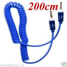 3.5mm Audio aux kabel Kopfhörer iphone Klinke auf Klinke Stereo Spirale Spring b