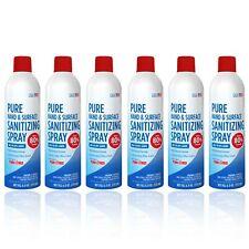 Pure Citrus Sanitizer Spray 6 oz Bottle | 80% Ethyl Alcohol - Pack of 6 Bottles