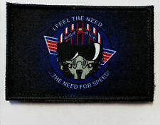 Top Gun Maverick Patch Morale Militaire Tactique Armée Drapeau 7,6cm x 5cm