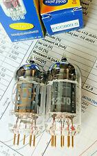 2 pcs ECC803S JJ gold pins Tube Valve Röhre matched  Paar High End E83CC 7025