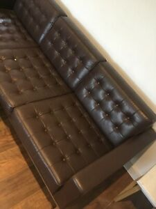 Robin Day 3 Seater Sofa Brown Leather From Loft