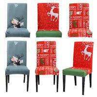 Weihnachten Stretch Stuhlhussen Stuhlbezug Stuhlüberzug Stretchhussen Dekoration