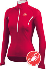 Castelli Women's Cromo Long Sleeve Cycling Jersey Red