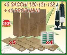40 SACCHI FILTRO + 40 PROFUMI ASPIRAPOLVERE FOLLETTO VK120 VK121 VK122