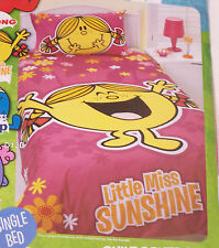 Little Miss Sunshine Girls Single Bed Quilt Cover Set New