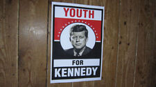 John F Kennedy JFK President Youth Campaign POSTER