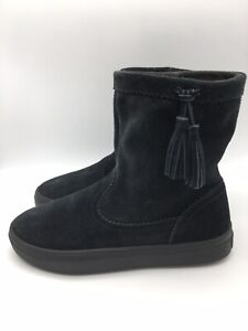 CROCS 203425 LodgePoint Black Suede Pull on Boot Size Women's Size US 7