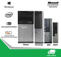 Fast Dell Optiplex Desktop Computer PC 7010 Quad Core i5 RAM SSD-HD Windows WiFi