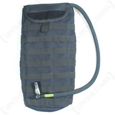 Microban Molle 3L Water Pack - Black - Hydro Bag Walking Hiking Military Army