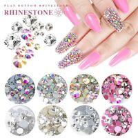 1440pcs SS3-SS20 Crystal AB Rhinestones 3D Flat-back Glass Nail Art Decoration