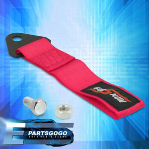 Universal Car Godsnow Racing Recovery Rope Tow Hook Strap Pink Heavy Duty Towing