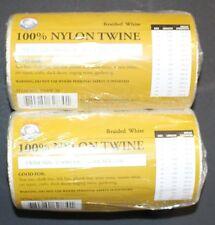 1 - 1lb. Balls Braided Nylon Hanging Twine #42 Fishing Net Repairs & 3 Needles