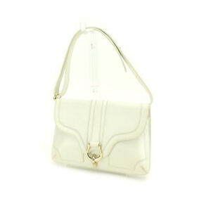 Kate Spade Shoulder bag White Gold Woman Authentic Used Y3982