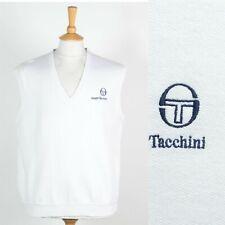 MENS VINTAGE 80'S SERGIO TACCHINI TANK TOP SWEATSHIRT VEST TENNIS WIMBLEDON L