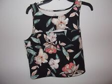 DECREE - WOMEN - TANK TOP - BLACK FLORAL - SIZE LARGE     (AC-26-259)
