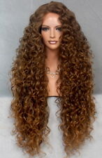 Exotic Extra Long Extra Full Tight Curly Wig Brown Mix Heat Safe DOM T4-27