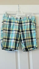 Shorts Size 5/6 Blue Plaid by Areopostle Stretch 3% Spandex