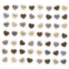 Mini Vintage Hearts Dress It Up Novelty Craft Buttons Embellishments