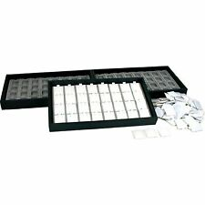 100 White Puff Earring Cards & Display Trays