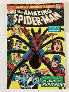 AMAZING SPIDER-MAN #135 | 2nd appearance of THE PUNISHER 1974 - FINE