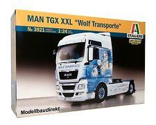 MAN TGX XXL - Wolf Transporte Truck LKW 1:24 Bausatz Italeri 3921 NEU & OVP