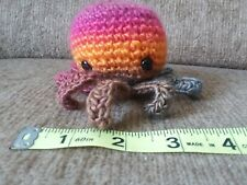 Sunset Octopus amigurumi crochet mini plush toy yarn