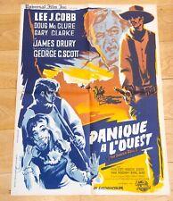 PANIQUE A L'OUEST Affiche cinéma 60x80 JAMES SHELDON, LEE-J COBB, MCCLURE - 1962