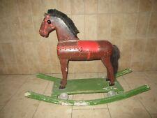 Altes Holz Pferd Schaukel Pferd Massiv Holz