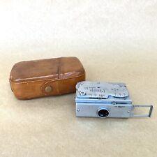 Mamiya Super 16 Vintage Subminiature Spy Film Camera W/ Leather Case - NICE